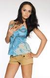 Attractive brunette girl Stock Photo