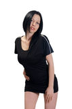 Black mini dress Stock Photo