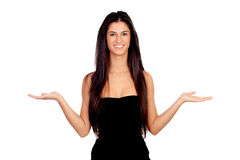 Attractive brunette girl with expression of doubt Stock Image