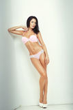 Attractive brunette girl in lingerie Royalty Free Stock Photo