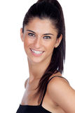 Attractive brunette girl with a pierced nose Royalty Free Stock Image