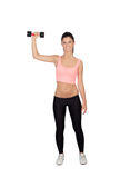 Attractive brunette girl tightening their muscles Stock Image
