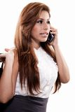 Attractive brunette hispanic business woman Stock Images