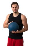 Attractive brunette man working out Stock Images