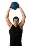 Attractive brunette man working out Royalty Free Stock Photo