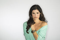 Attractive Brunette Model Royalty Free Stock Photos