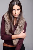 Attractive brunette modeling Royalty Free Stock Photography