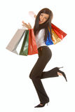 Attractive brunette with shopping bags Stock Photography