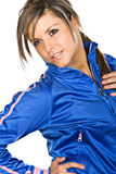 Attractive Brunette in Sports Clothes Stock Images