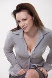 Attractive brunette twenties caucasian woman Stock Image
