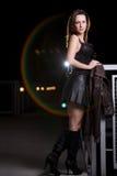 Attractive brunette twenties caucasian woman Stock Photography