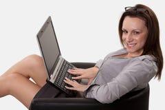 Attractive brunette twenties caucasian woman Stock Photo