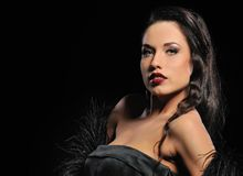 Attractive brunette woman. Picture of an Attractive brunette woman royalty free stock images