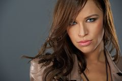 Attractive brunette woman Royalty Free Stock Photography