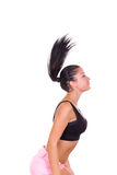 Attractive brunette woman exercising in sportswear Royalty Free Stock Images