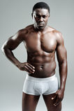 Attractive buff man in studio Royalty Free Stock Images