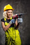 Attractive builder woman Royalty Free Stock Photo