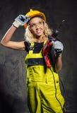 Attractive builder woman Stock Photos