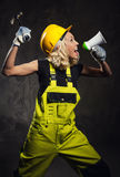 Attractive builder woman Stock Photo