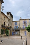 Attractive buildings in Remoulins, France Royalty Free Stock Image