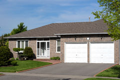 Attractive bungalow. With a double garage Stock Photography
