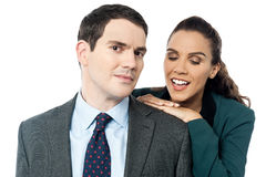 Attractive business couple posing together Royalty Free Stock Photo