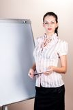 Attractive business lady making presentation Stock Photos