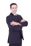 Attractive business man with arms folded Stock Photography
