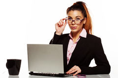 Attractive business manageress Stock Image