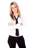 Attractive business with necktie Royalty Free Stock Photography