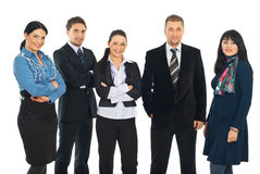 Attractive business people group royalty free stock images