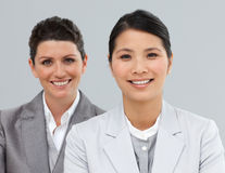 Attractive Business people in a line Stock Photography