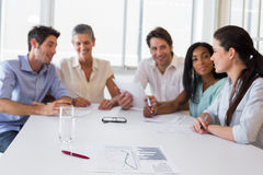 Attractive business people at meeting Stock Photography