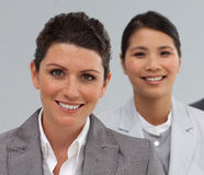 Attractive Business people standing in a line Stock Photography