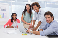Attractive business people in the workplace Royalty Free Stock Photos