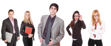 An attractive, business team Stock Images