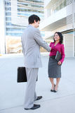 Attractive Business Team Handshake Royalty Free Stock Photography