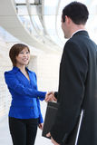 Attractive Business Team Handshake Royalty Free Stock Photos