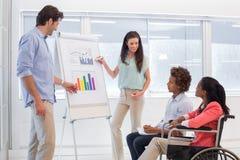 Attractive business team making presentation Stock Photo