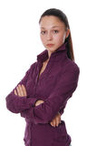 The attractive business woman Stock Photography