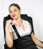 Attractive business woman. With red glasses Stock Photos