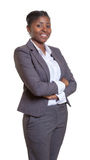 Attractive business woman from Africa with crossed arms Stock Photography