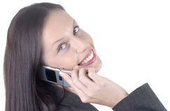 Attractive business woman with cellphone Stock Photography