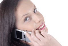 Attractive business woman with cellphone Stock Photos