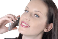 Attractive business woman with cellphone Stock Images