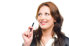 Attractive business woman dreaming Stock Photos