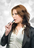 Attractive business woman dreaming Stock Images