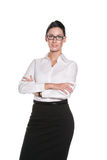 Attractive business woman in glasses Stock Image