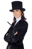 Attractive business woman with hat Stock Photos