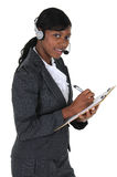 Attractive Business Woman with Headset 02 Royalty Free Stock Photos
